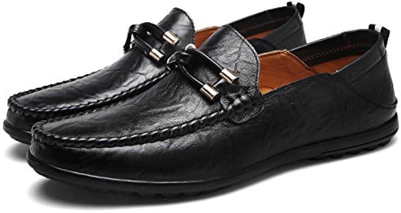 DHFUD Herren Freizeitschuhe Faule Runde Schuhe
