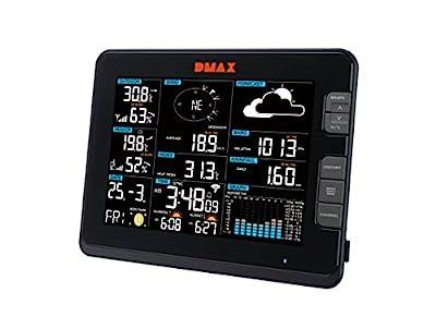 DMAX Profi WLAN Wetter Center 6-in-1 Wetterstation mit Temperatur, Luftfeuchtigkeit, Wind, Luftdruck, Regen, UV-Strahlung, schwarz von DMAX bei Du und dein Garten