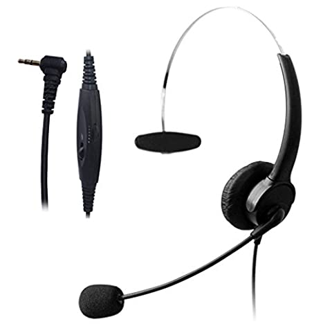 Wantek Wired 2,5mm Casque avec Noise Cancelling Micro et Volume