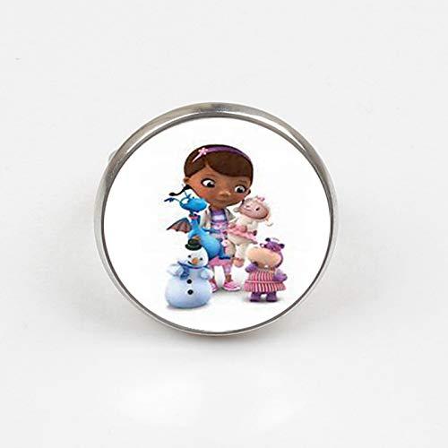 2019 Doc McStuffins Kinder Cartoon Ring Dottie Mädchen Figur Muster Glas Spielzeug Ring Kinder Schmuck Geschenk (Mädchen Dottie)