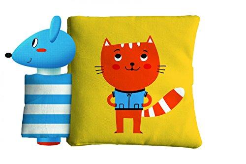 El gato y el ratón: Libro de tela con sonajero (Libros con sonidos)