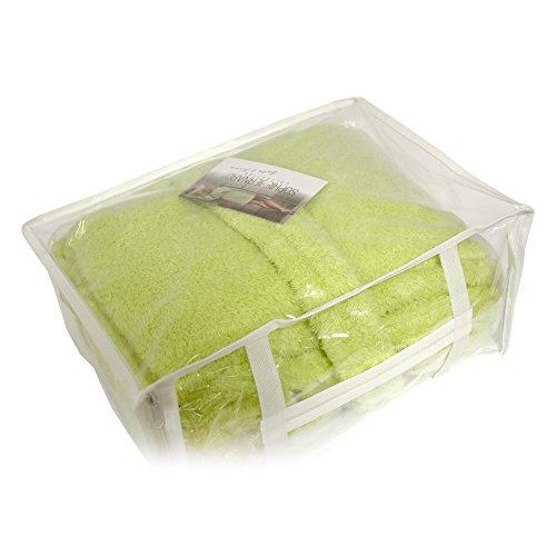 'Phoebe Accappatoio Casa Cappotto dalla collezione Sophie Bernard Bath & Home. fuehl Dich Wohl., Microfibra, verde, Small Verde