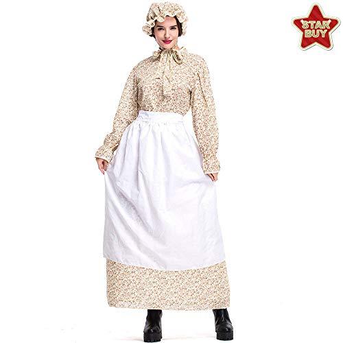 COSOER Wolf Oma Cosplay Kostüm Märchen Thema Kleidung Garten Bauernhof Rock Für Halloween Weiblich Tragen,Khaki-L (Paare Kostüm Beängstigend)