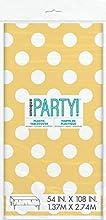 Unique Party - 50263 - Nappe - Plastique à Pois - 2,74 x 1,37 m - Jaune