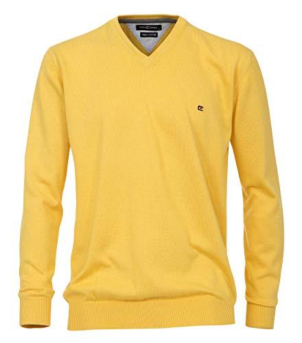 Casa Moda - Herren Pullover mit V-Ausschnitt (004130A), Größe:6XL, Farbe:Gelb (500) - Pima-baumwolle Pullover Weste