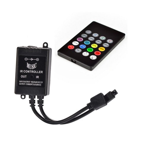 Musica controller IR 20-Key sensore del suono remoto per 3528 5050 SMD RGB LED Light (3 Sensori Remoti)