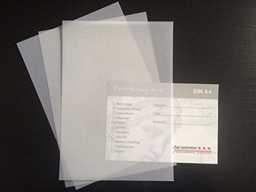 100 Blatt Transparentpapier Zanders T2000 DIN A4 100 g/qm Super Qualität klar-weiß durchscheinend