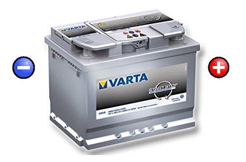 Varta D53 12V 60Ah 560 A(EN) Start Stop EFB Batteria auto ETN 560 500 056