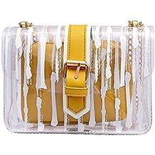 Luckycat Transparente Bolso, Mujer Bolso Transparente Candy Verano Bolso Bolsos Messenger bolsa viaje perfecta para