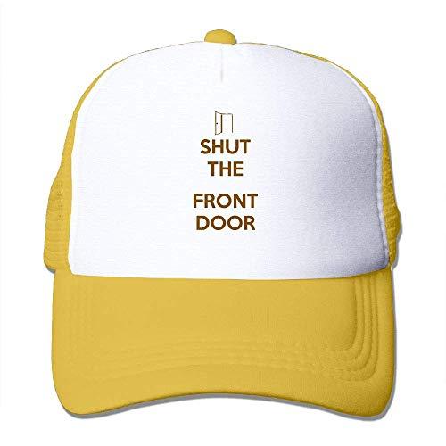 AOHOT Herren Damen Baseball Caps,Hüte, Mützen, Classic Baseball Cap, Shut The Front Door Men Women Flat Cap-Comes in 8 Colors (Wii Spiel Einhorn U)