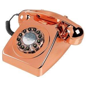 Teléfono Vintage Metal rosa