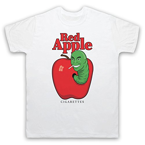 Red Apple Cigarettes Tarantino Fake Brand Herren T-Shirt, Weis, 3XL - 55 Wh Apple