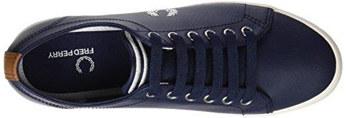 Fred Perry Kingston Leather, Scarpe Stringate Oxford Uomo Blu (Carbon Blue)