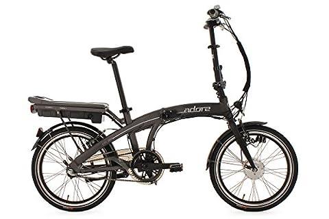 KS Cycling Fahrrad Pedelec E-Bike Faltrad 20'' Adore Zero anthrazit, anthrazit, 20, 123E