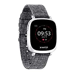 """X-WATCH 54038 IVE XW FIT Fitness Uhr - Fitness-Coach - Fitness Tracker mit Schrittzähler - Schlafanalyse - Workout-Tracker - Pulstracker - Kalorientracker f. Android & iOS - 1,3"""" Touchscreen"""