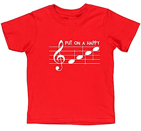 HippoWarehouse - T-shirt - Fille - rouge - 8 ans
