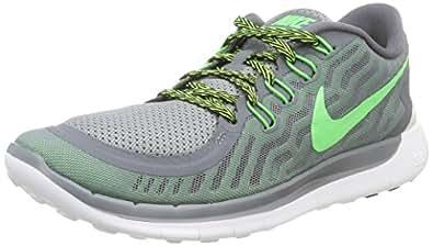 NIKE Men's Free 5. 0 Cool Grey/GRN Strike/VLTG GRN Running Shoe 12 Men US