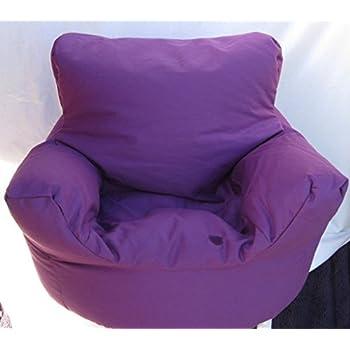 Cotton Purple Bean Bag Arm Chair Seat Hallways R