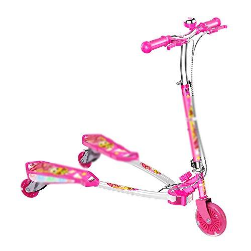 QFFL huabanche Roller Kinder Frosch Dreirad Swing Scooter Scissor Scooter 4-5-6-12 Jahre alt Baby Schlitten 4 Farben Optional (Farbe : D)