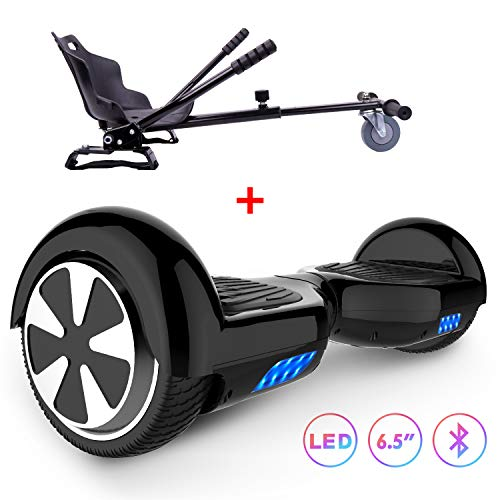 RCB Self Balancing Roller über Bord 6,5 Zoll Smart Electric Scooter für Erwachsene Kids-UL2272 Sicherheit mit LED-Leuchten mit hoverkart