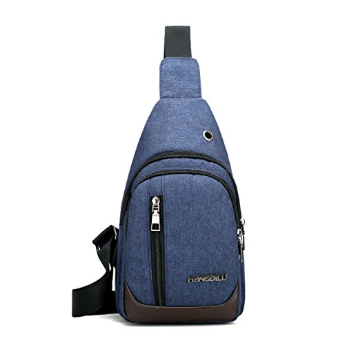 BULAGE Paket Paket Brustbeutel Mannbeutel Städtisch Lässig Einfach Männer Schulter- Messenger Wasserdicht Leicht Blue