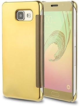 Funda Samsung Galaxy A3 2017 Inteligente Flip Cover Hora Clear View Carcasa Soporte Plegable Espejo Reflexión...