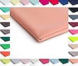 Nurek Scuba Tessuto a maglia semplice - 50 x 150cm - Disponibile in una varietà di colori (Pesca)