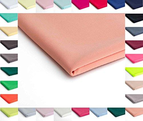 Nurek Scuba Plain Gestrick - 50 x 150 cm - Erhältlich in verschiedenen Farben (Pfirsich Nr.16)