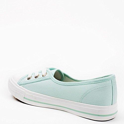 Ideal Shoes, Damen Sneaker Türkis