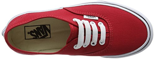 Vans Mädchen Uy Authentic Sneakers Rot (Strawberry Tape Red/black)