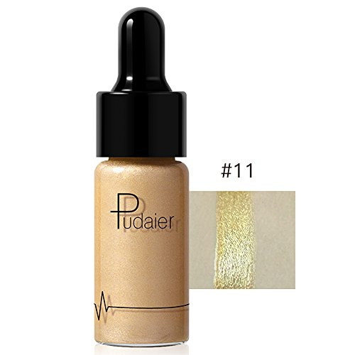 Shimmer Face Contour Makeup Specular Liquid Highlighter Ultra-concentrated Bronze Concealer Cream High Beam pour Contour de Visage et de Yeux Longue Durée Ultra-concentré Bronze (K)