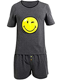 Pomm'poire - Pyjama Manches courtes Happy Night by Smiley - Homme