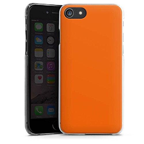Apple iPhone 8 Hülle Tough Case Schutzhülle Mandarinen Farbe Orange Hard Case transparent