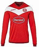 uhlsport Fortuna Düsseldorf Trikot Heim 2018/2019 Langarm Kinder rot-weiß, 152