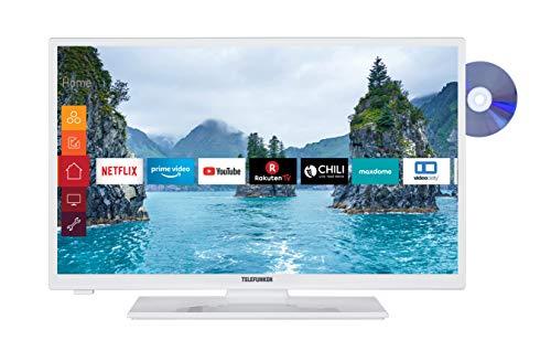 Telefunken XH28E501D-W 71 cm (28 Zoll) Fernseher (HD Ready, Triple-Tuner, Smart TV, DVD-Player integriert)