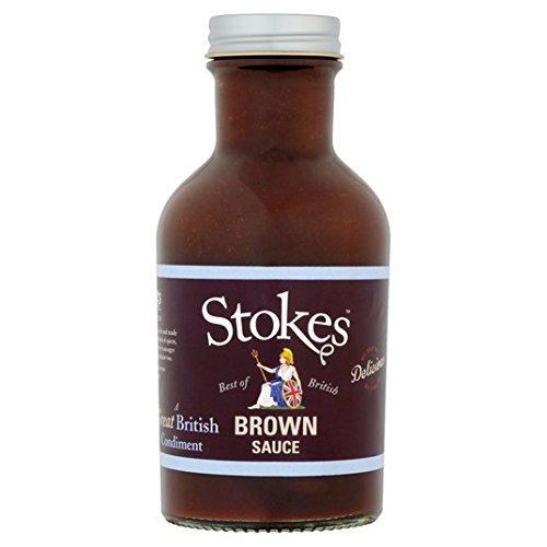 Stokes Echt Brown Sauce 320g (Datum-sauce)