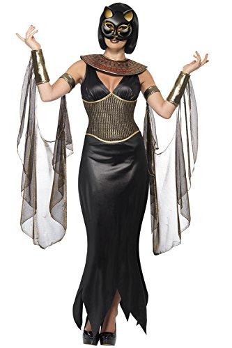Halloween Ägyptisch Tempel Bastet Die Katze Göttin Kostüm Komplettes Outfit - Damen, Multi, Large