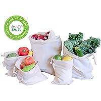 Algodón orgánico Muselina reutilizable producir bolsas
