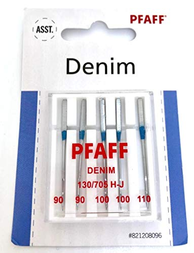 Pfaff Jeans Nähmaschinennadeln 130/705 H-J Stärke 90-110 für Pfaff Nähmaschinen Smarter (Pfaff Smarter)