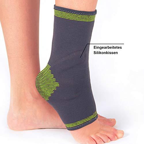 FUSSBANDAGE mit SILIKONPOLSTER Gr. M NEU Knöchelbandage Fuß Bandage Sprunggelenk ~cf455 1431 -