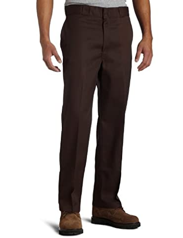 Dickies Herren Sporthose Streetwear Male Pants Original Work, Braun (Dark Brown DB), 38W / 32L