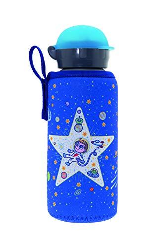 Laken Botella Infantil de Aluminio 0,45L Tapón Hit con Funda de Neopreno, Cosmos