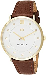 Tommy Hilfiger Womens Quartz Watch, Analog Display and Leather Strap 1781809