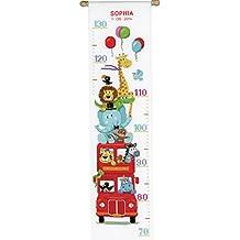 Vervaco Kit de punto de cruz para hacer medidor de altura, diseño de animales en un autobús, multicolor