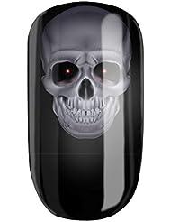 Trendliner-Cosmetics Glamstripes Stickers pour ongles Motif tête de mort mystique Stickers pour ongles avec motif tête de mort mystique
