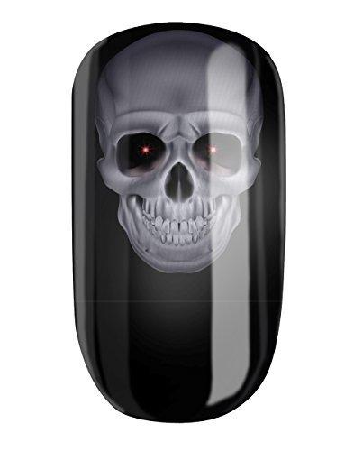 Nagelfolien/Mystic Skull- selbstklebend mit individuellen Designs by Glamstripes- made in Germany. 12 Nail Wraps äußerst strapazierfähig mit langer Haltedauer