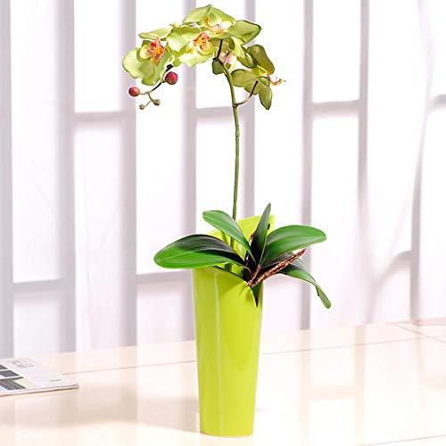 Tackebu orchidea artificiale fiori finti phalaenopsis composizione floreale soggiorno verde 60 × 30 cm