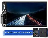Tristan Auron BT2D7019A Android 9.0 Autoradio + DAB+ Box OBD 2 Adapter I 7'' Touchscreen Bildschirm I Bluetooth Freisprecheinrichtung I GPS Quad Core USB SD DAB - Doppel Din