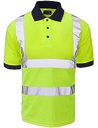 Fast Fashion Hi viz Marinekragen Sicherheits Arbeitskleidung Hoch Visability Polo T Shirt