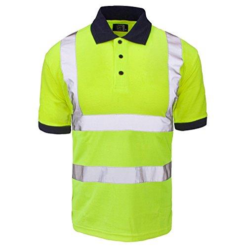 Fast Fashion Hi viz Marinekragen Sicherheits Arbeitskleidung Hoch Visability Polo T Shirt (Gelb Sicherheit T-shirt)